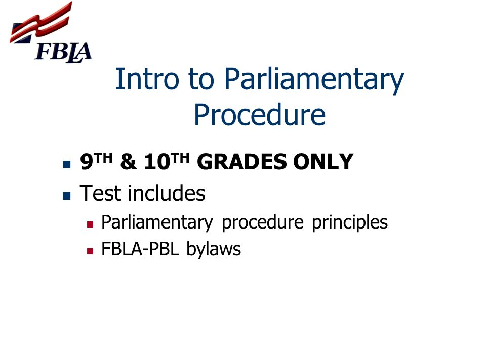 Intro to Parliamentary Procedure