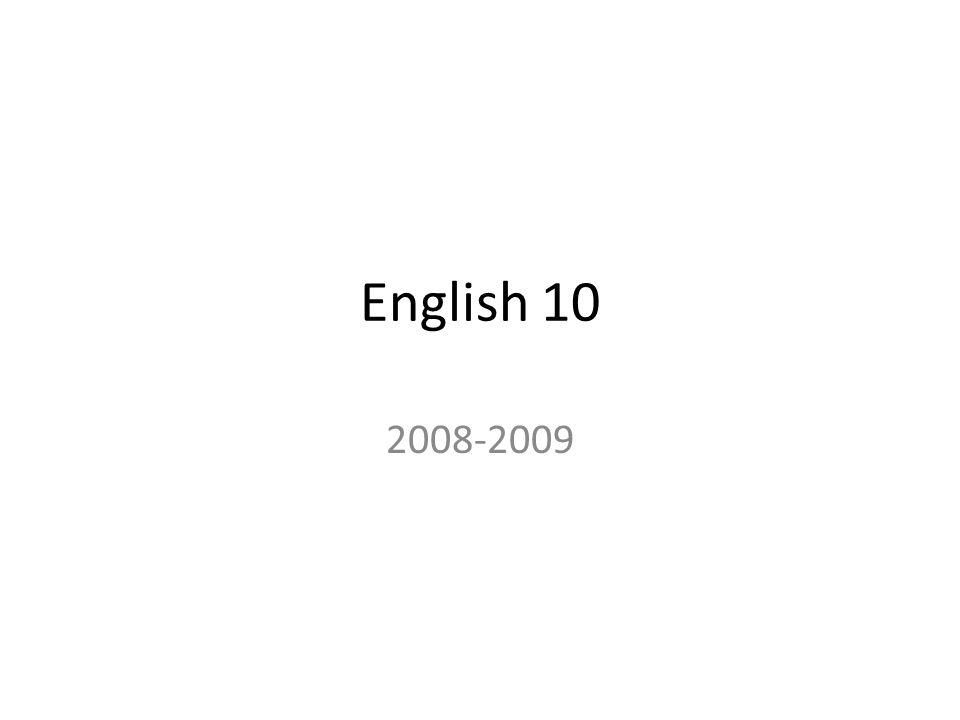 English 10 2008-2009
