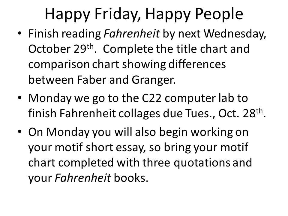 Happy Friday, Happy People