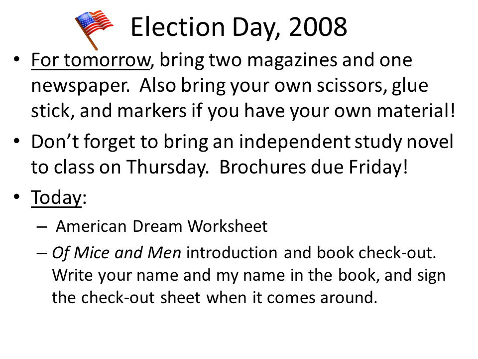 Election Day, 2008