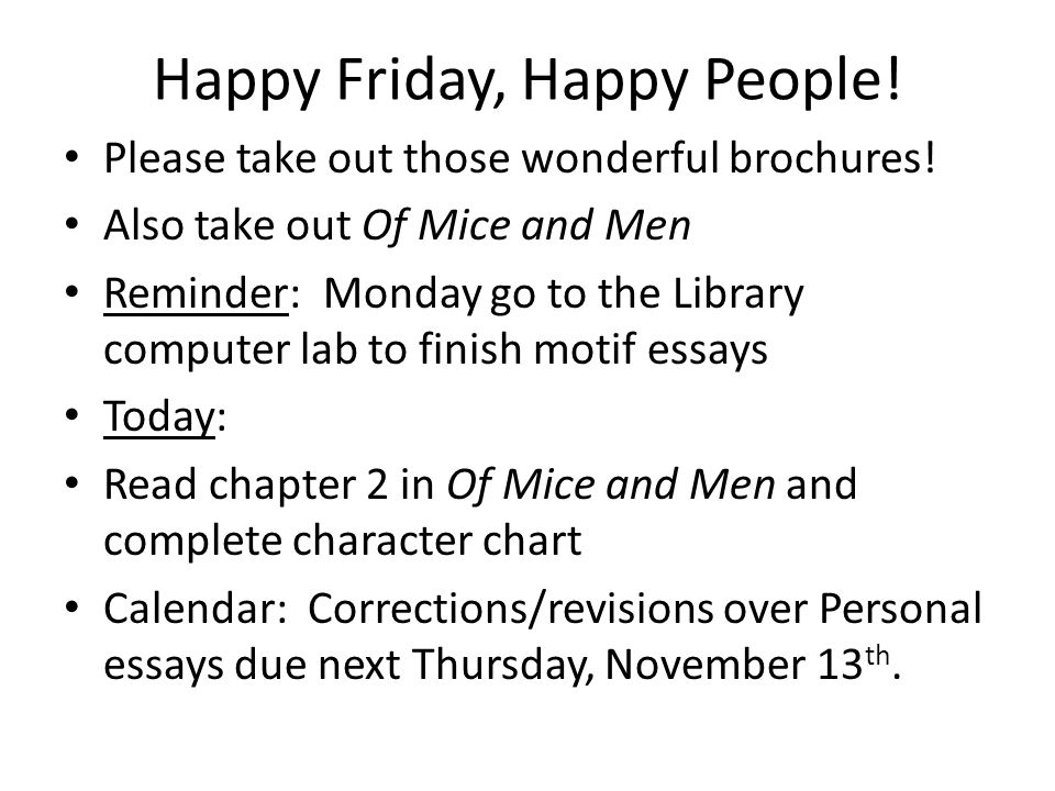 Happy Friday, Happy People!