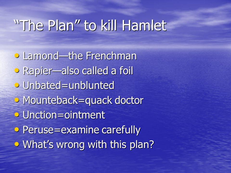 The Plan to kill Hamlet