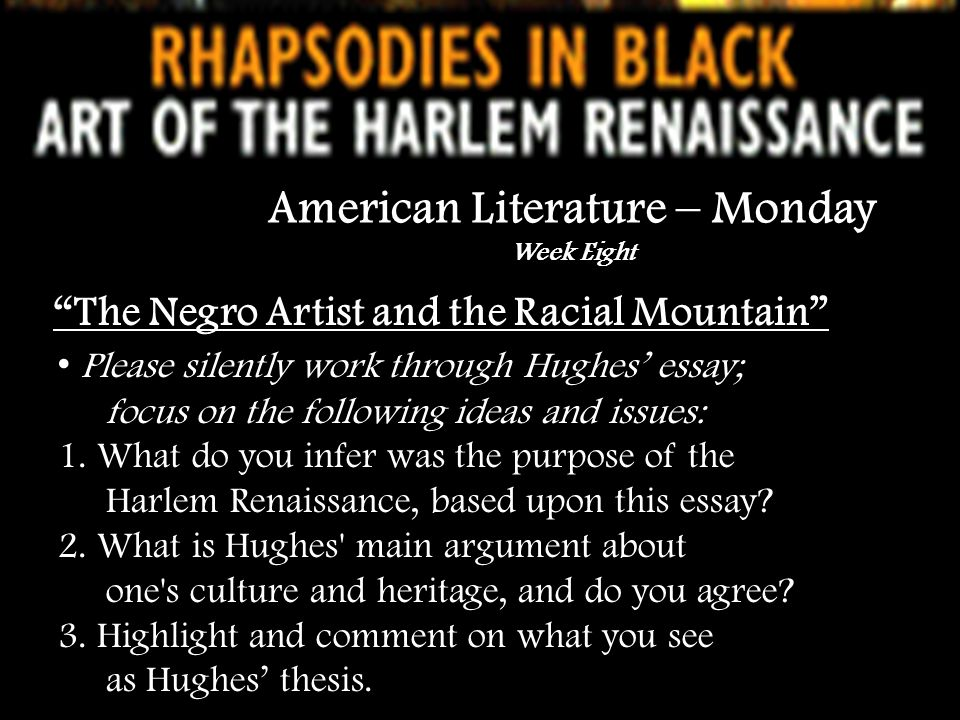 the harlem renaissance and its role in american literature essay