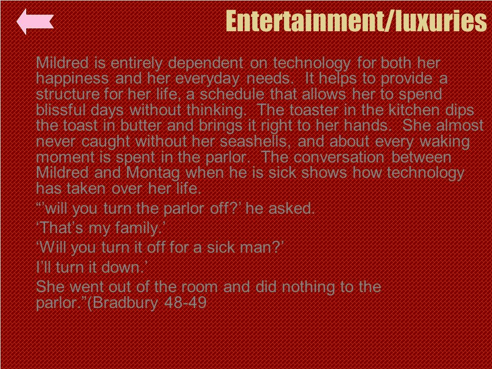 Entertainment/luxuries
