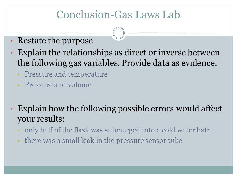 Conclusion-Gas Laws Lab
