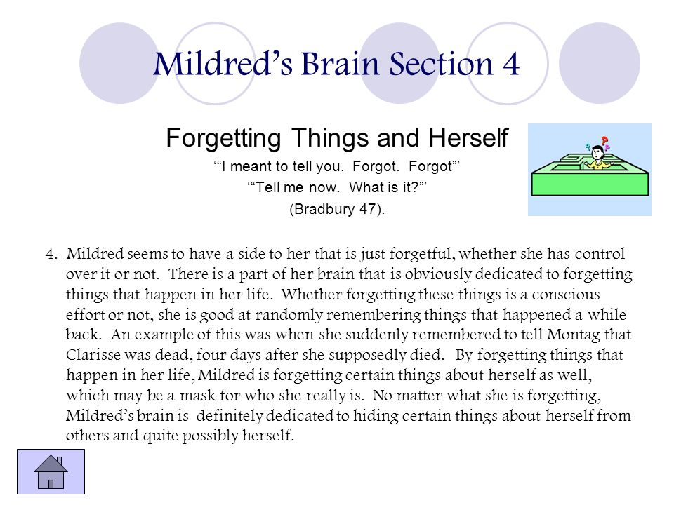 Mildred's Brain Section 4