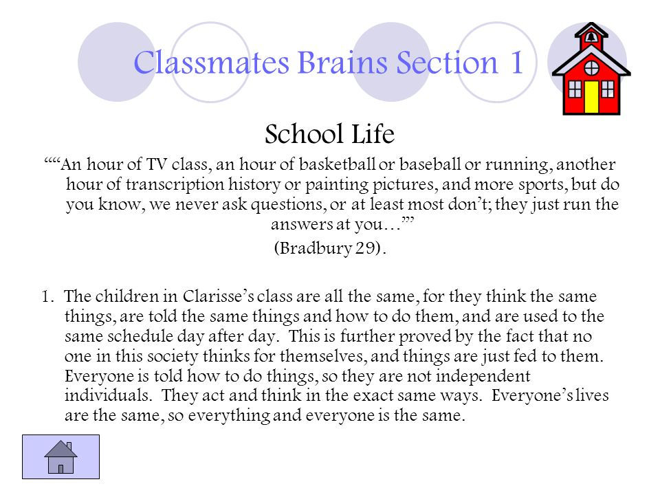 Classmates Brains Section 1