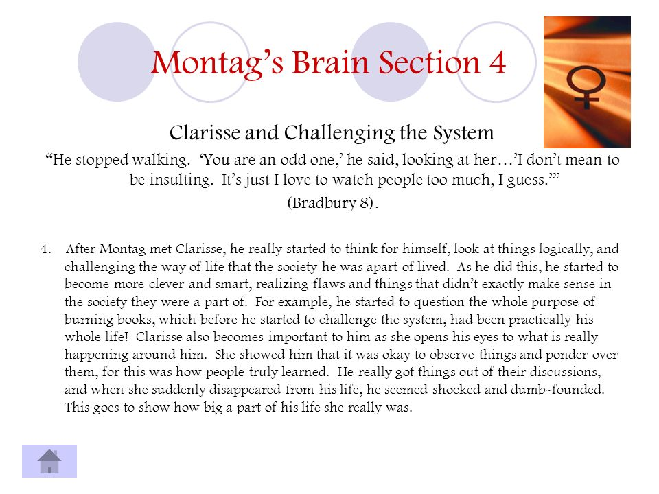 Montag's Brain Section 4