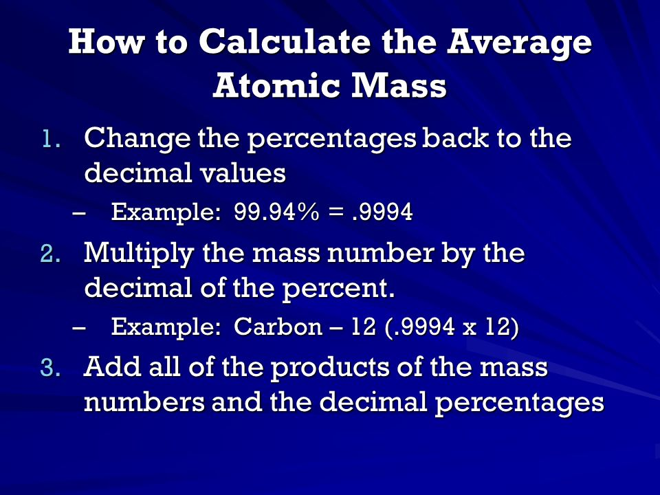 How to Calculate the Average Atomic Mass