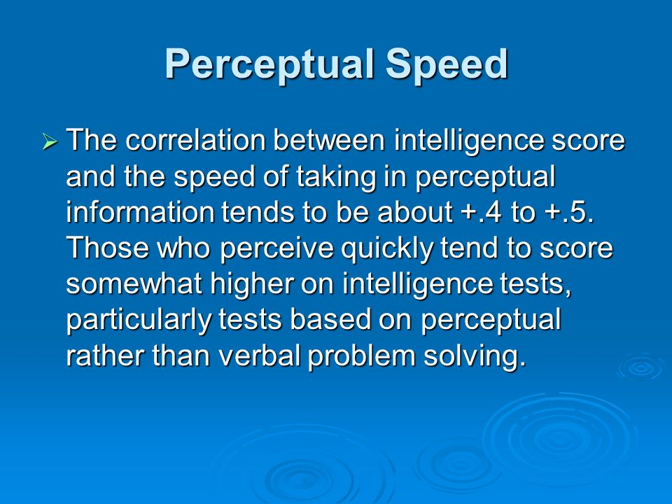 Perceptual Speed