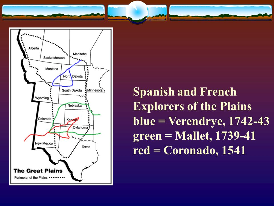 Spanish and French Explorers of the Plains
