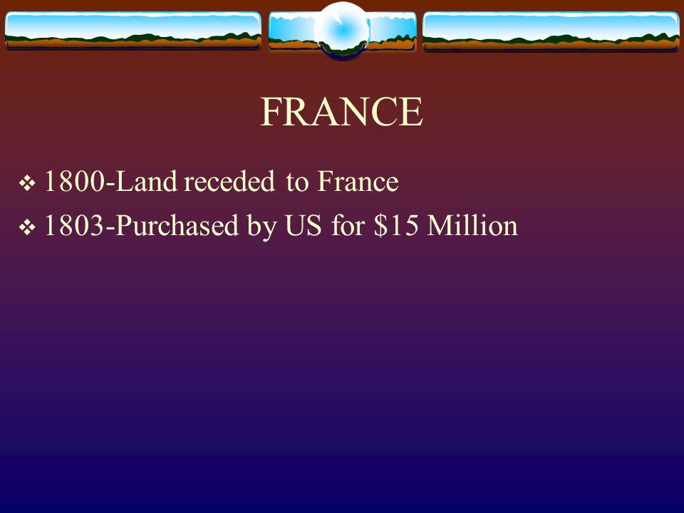 FRANCE 1800-Land receded to France