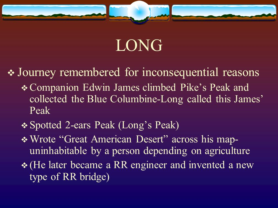 LONG Journey remembered for inconsequential reasons