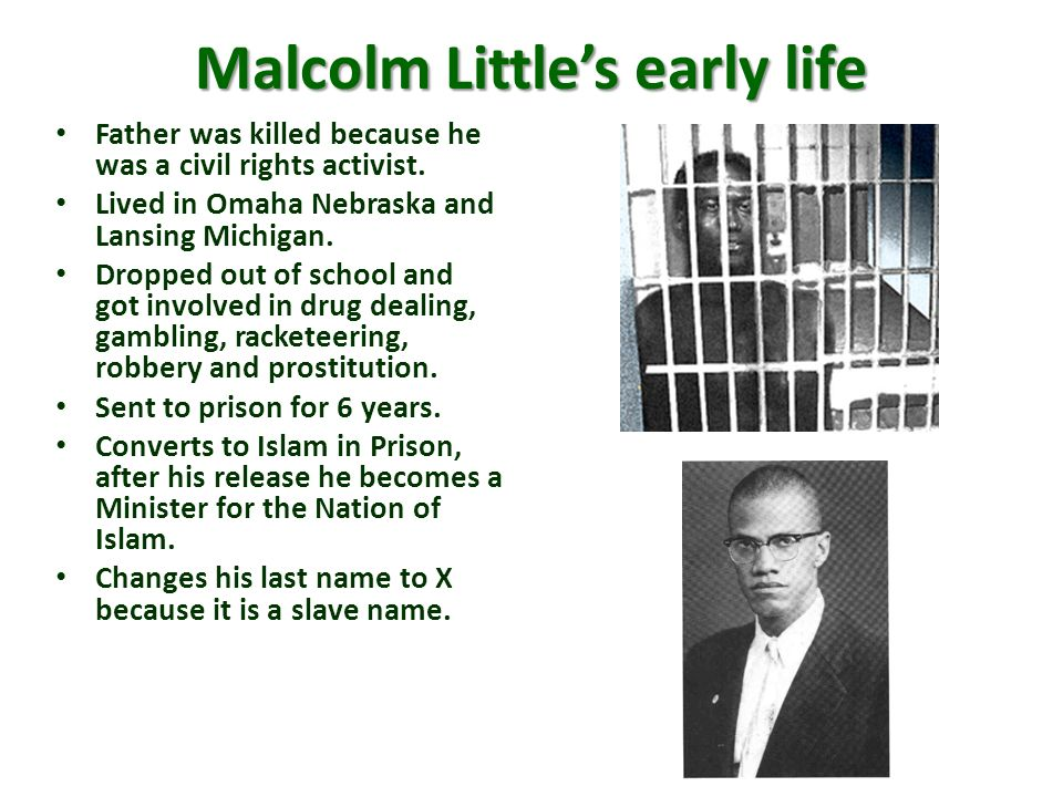 Malcolm Little's early life