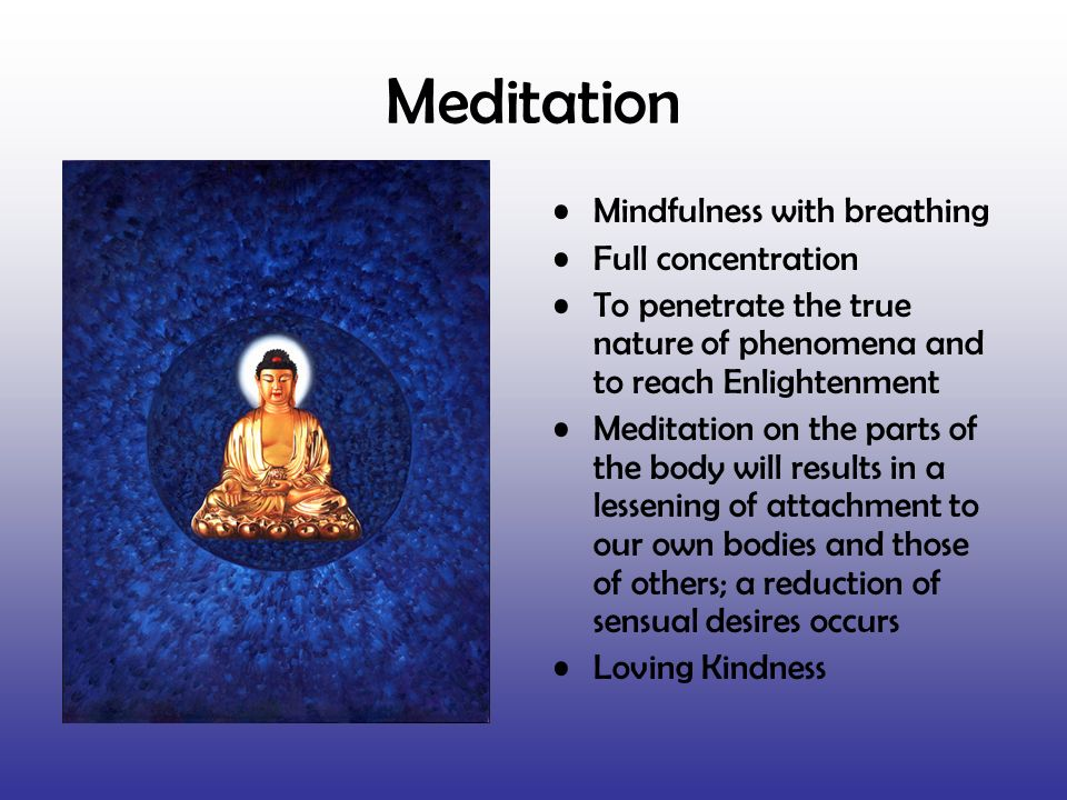 Meditation Mindfulness with breathing Full concentration