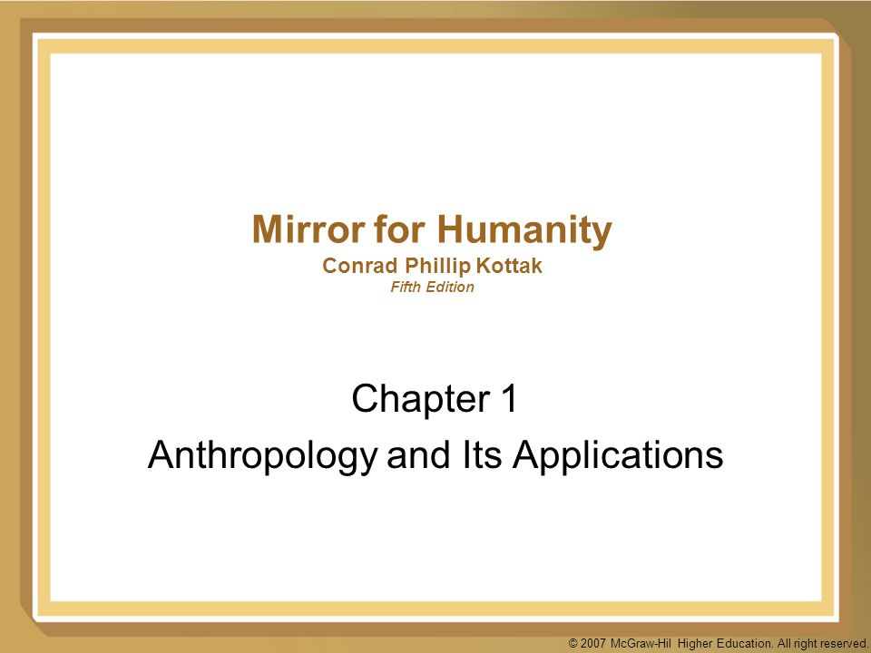 anthropology and its application to the An understanding of the united states constitution and its application  the biological anthropology specialization prepares students for graduate study in.