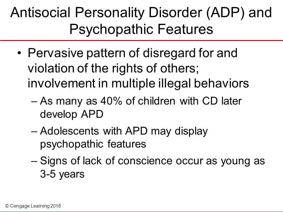 Psychopathy and antisocial personality disorder