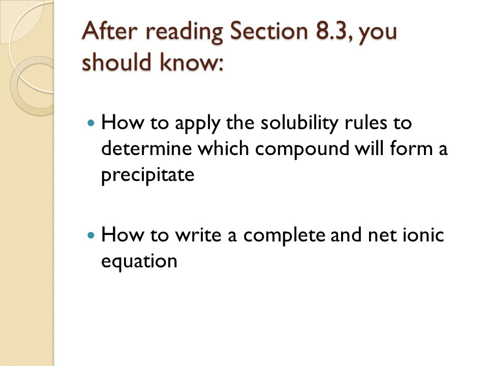 After reading Section 8.3, you should know:
