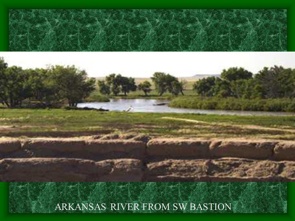 ARKANSAS RIVER FROM SW BASTION