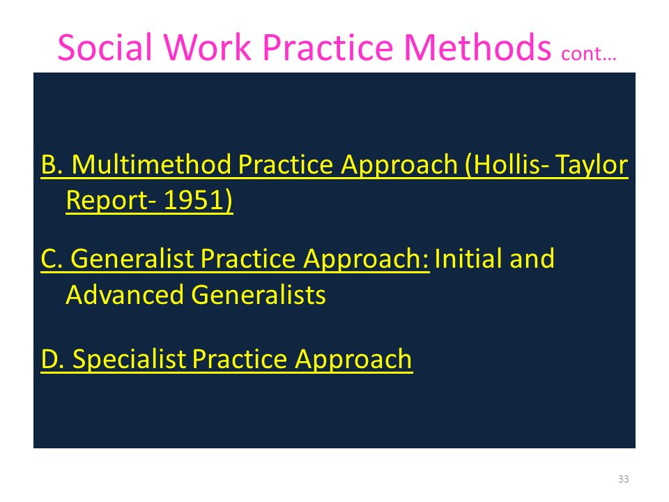 approaches to social work practice