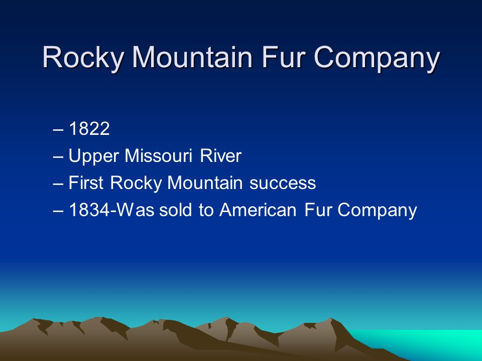 Rocky Mountain Fur Company