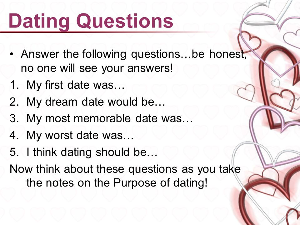 First Date Questions to Ask Each Other