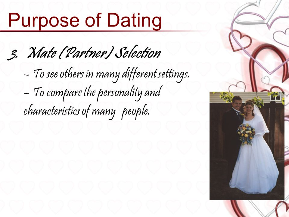 purposes of dating