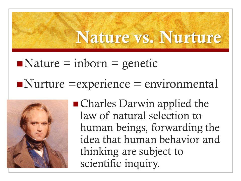 Charles Darwin Nature Vs Nurture