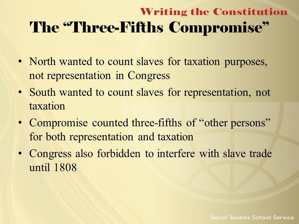 three fifths compromise May 6, 2014 ready to get nauseous over some ugly us history the constitutional convention's 3/5ths compromise broken down so you can understand it for school, for a tes.