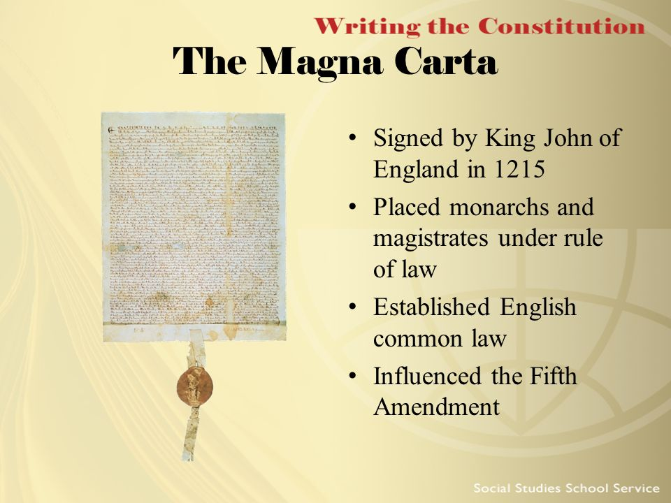 Magna Carta and the Constitution