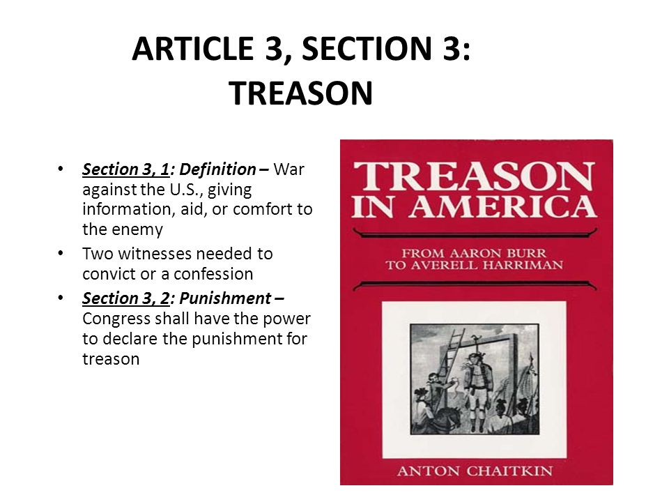 Parts of the constitution ppt download for Define treacherous