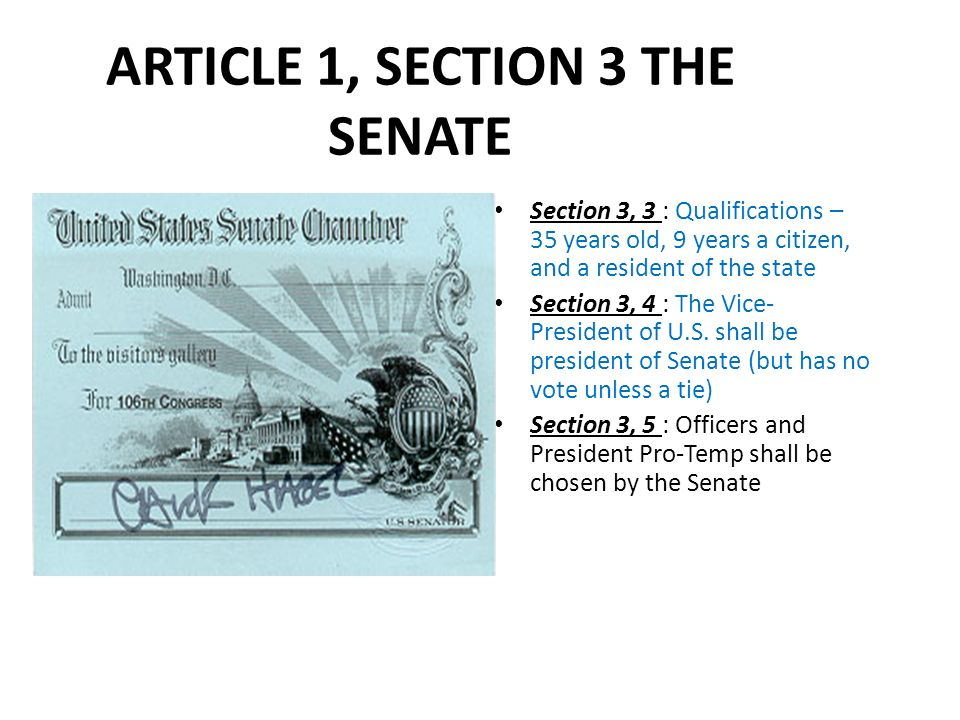 the united nations constitutions article 1 section 6 clause1 essay Compare article i with article ii of the constitution which article is longer and more detailed what does this indicate our framers intended.