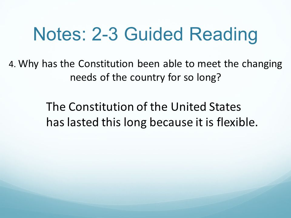 why has the american constitution lasted so long essay How has the constitution lasted through the constitution has been able to endure for so long through as much very basic foundation of american.