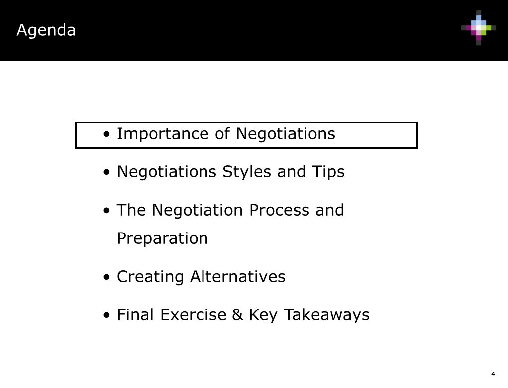 A report on my takeaways from the negotiation