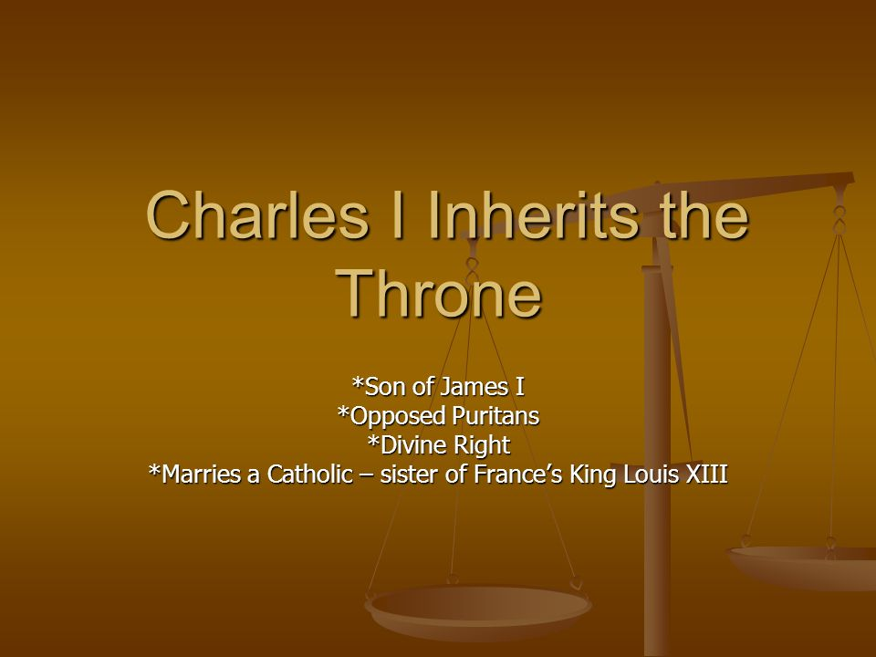 Charles I Inherits the Throne