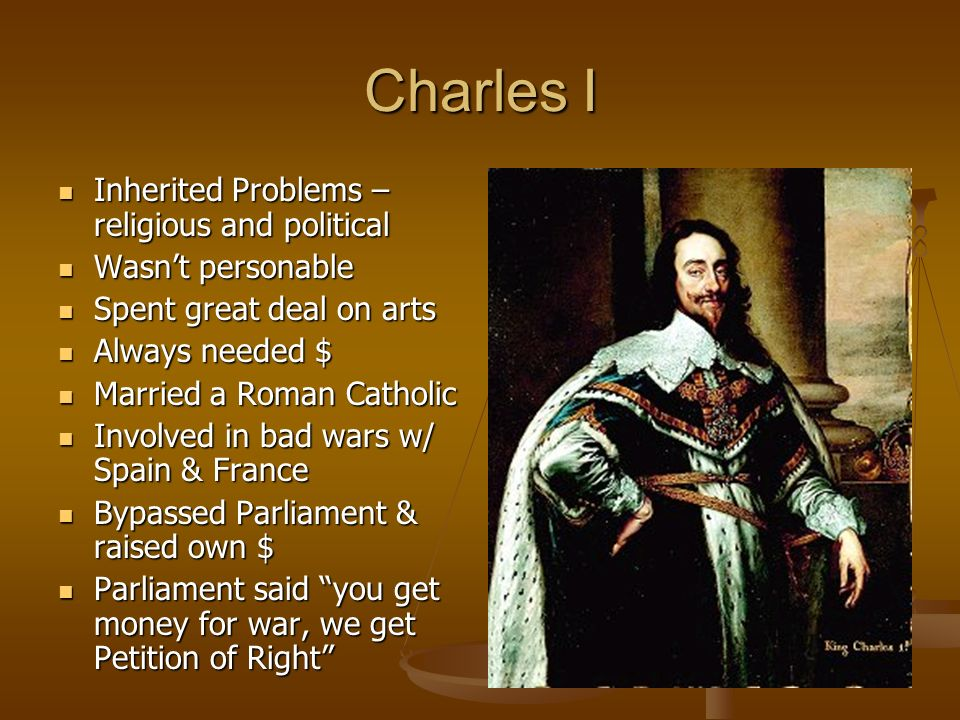 Charles I Inherited Problems – religious and political