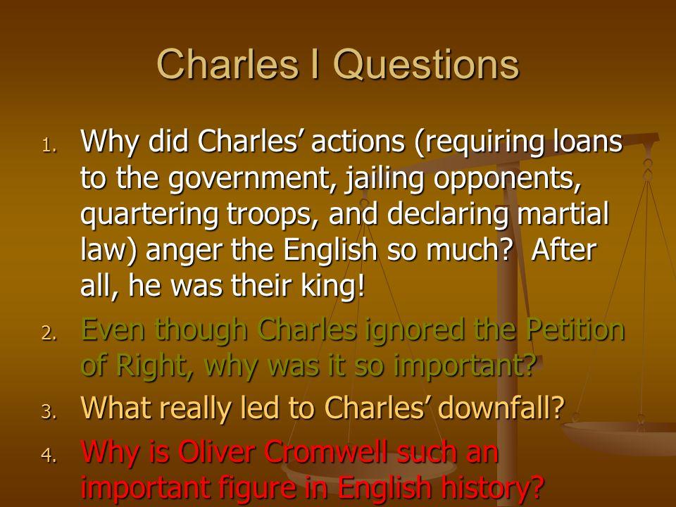 Charles I Questions