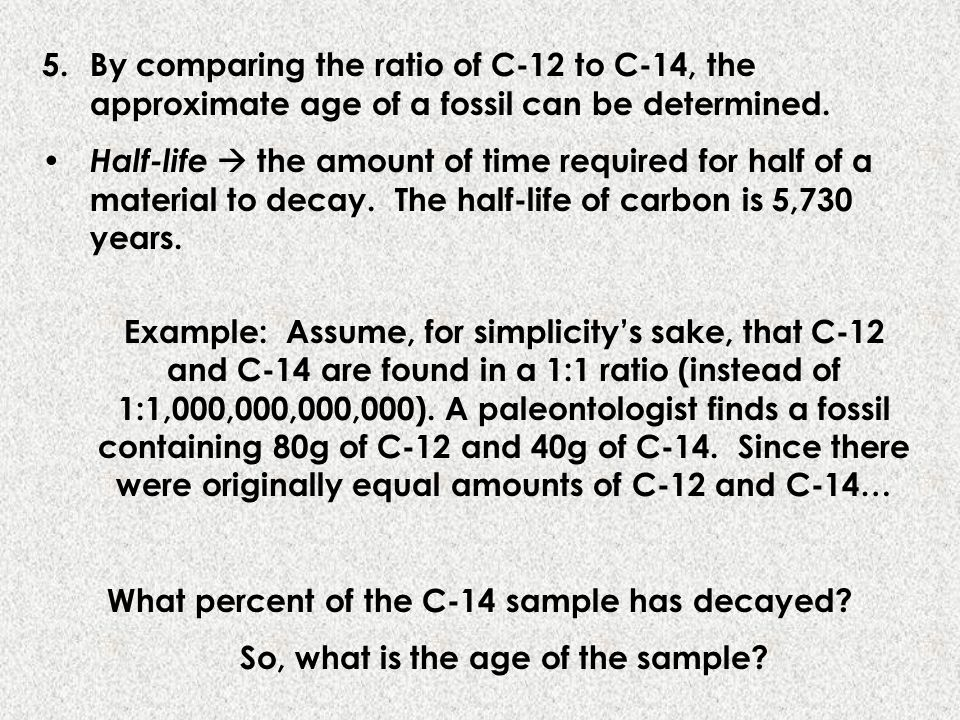 What percent of the C-14 sample has decayed