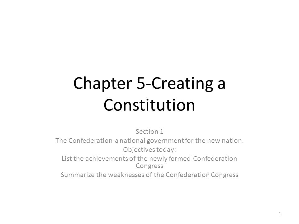 Chapter 5-Creating a Constitution