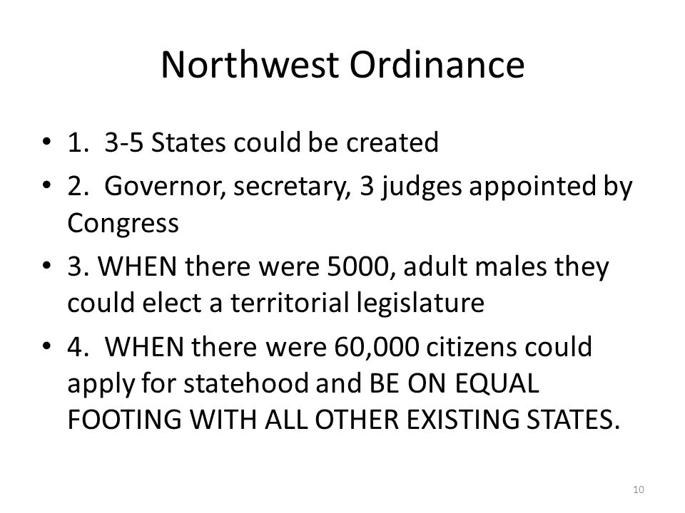 Northwest Ordinance States could be created