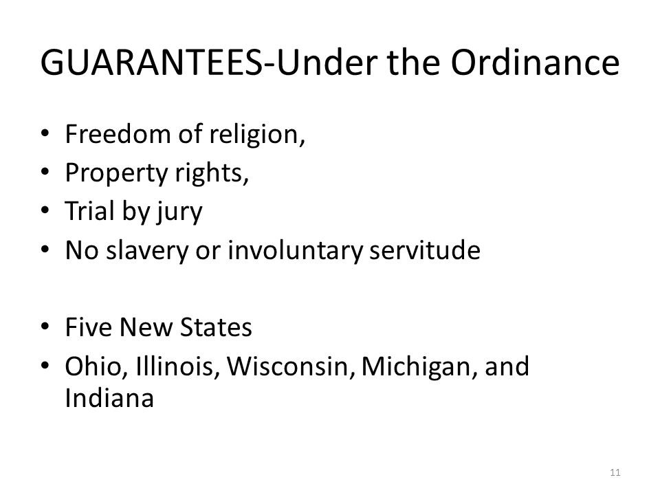 GUARANTEES-Under the Ordinance