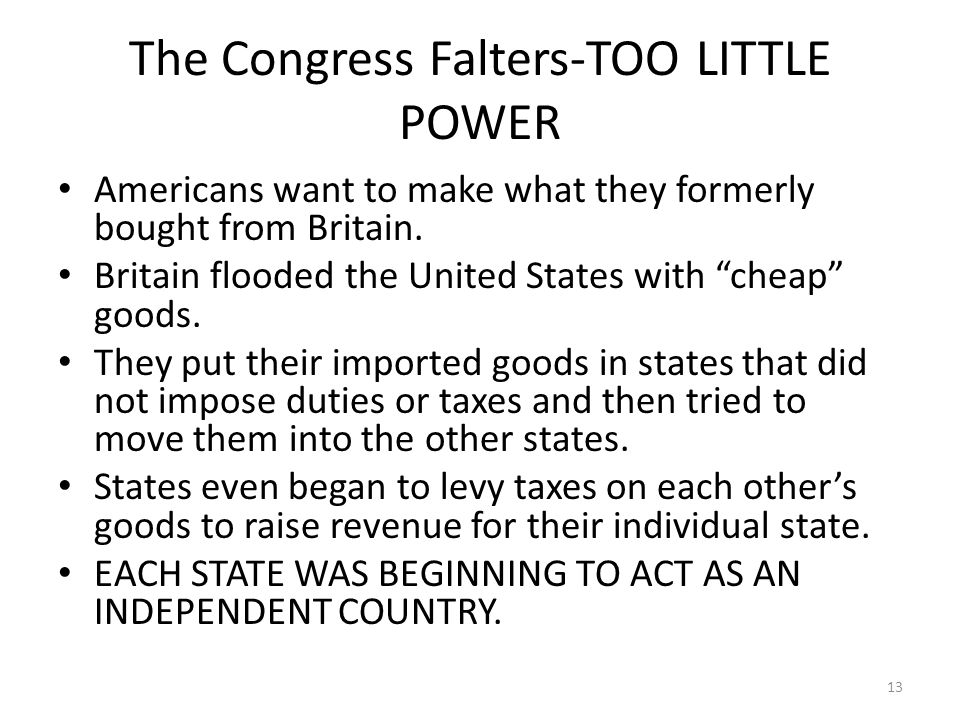The Congress Falters-TOO LITTLE POWER