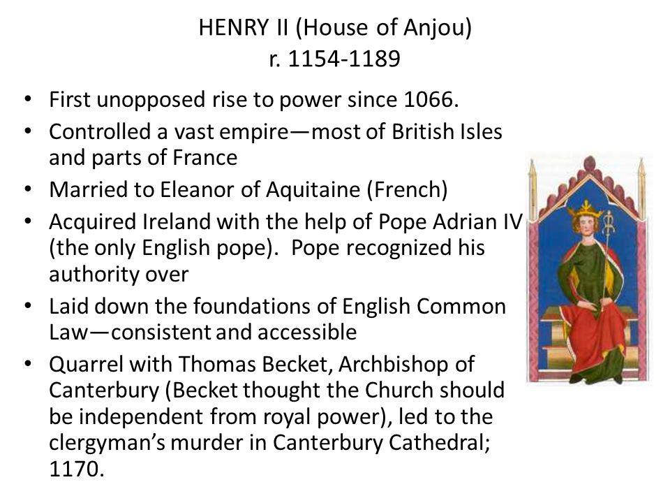 HENRY II (House of Anjou) r