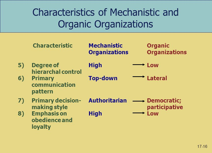 difference between mechanistic and organic organisational structure Learn about mechanistic vs organic organizational structure (contingency organic, organizational structure differences between mechanistic and organic.