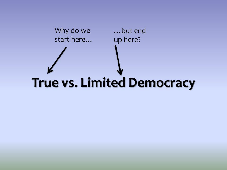 True vs. Limited Democracy