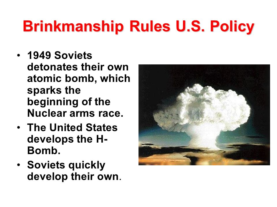 Brinkmanship Rules U.S. Policy