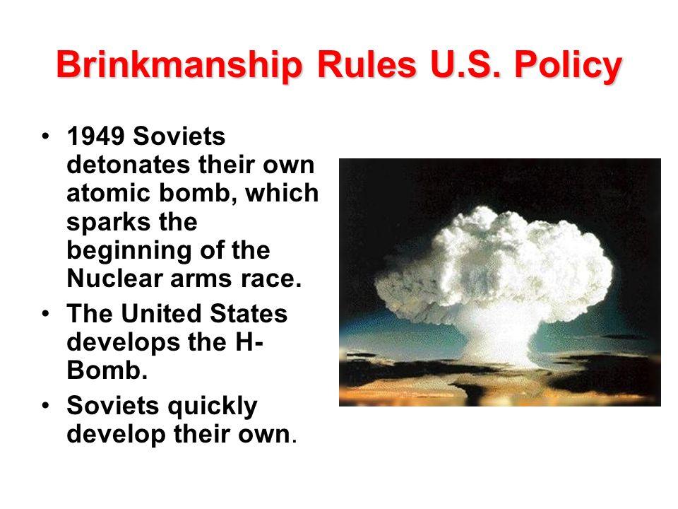Brinkmanship Rules U.S. Policy