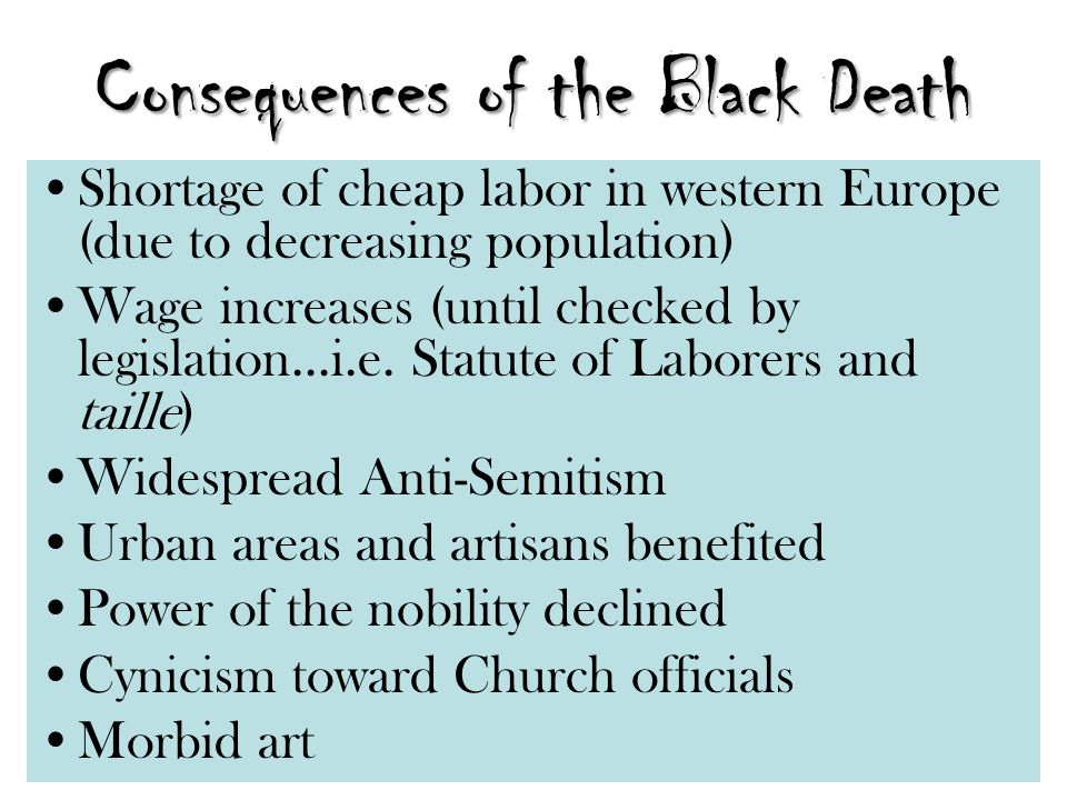 Consequences of the Black Death