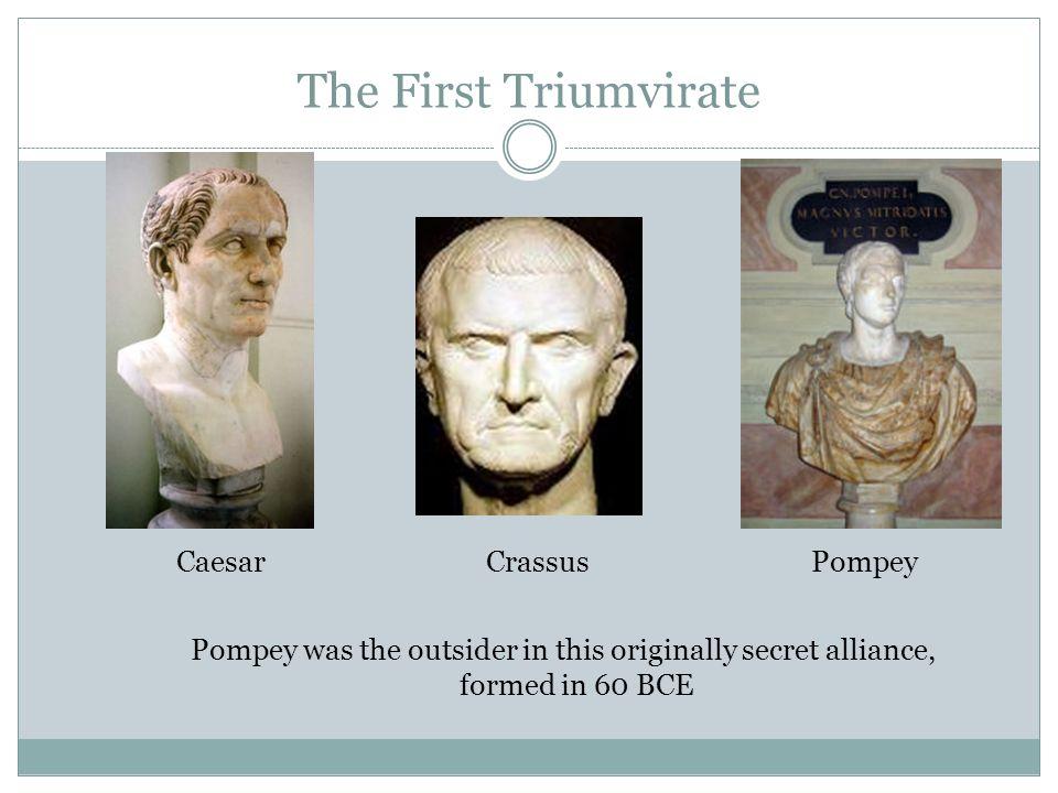 The First Triumvirate Caesar Crassus Pompey