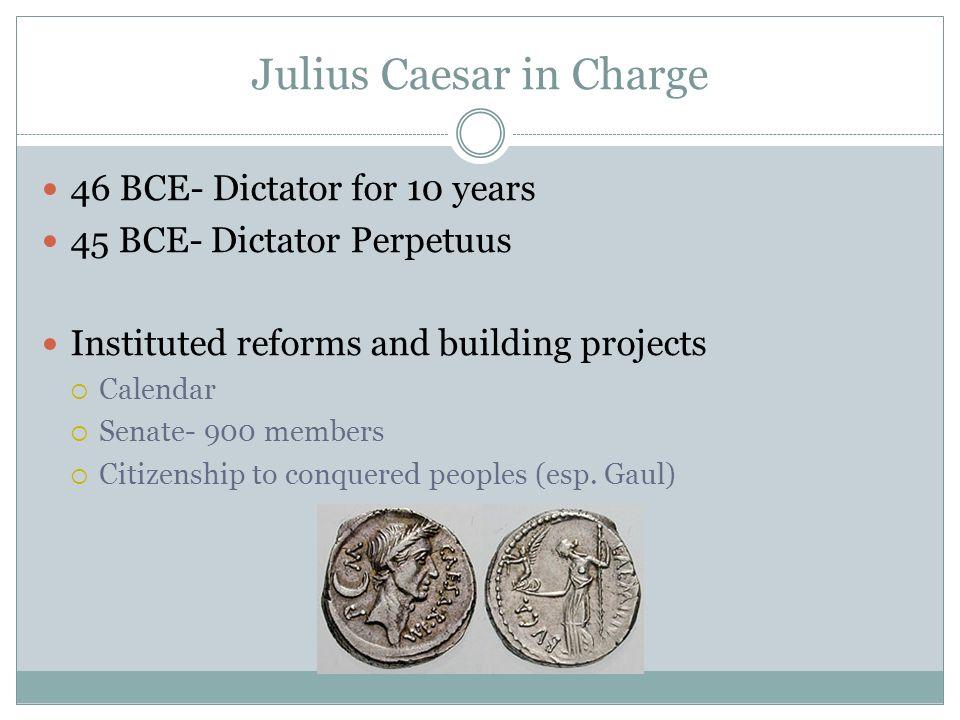 Julius Caesar in Charge